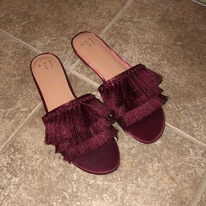 Shoes - Burgundy Sandals